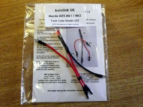 Diagnostic fault code reader LED, Mazda MX-5 mk1 & mk2